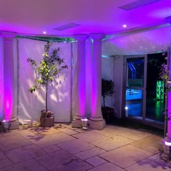 royal solent yacht club uplighting hampshire