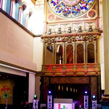 disco beaumont estate chapel wedding