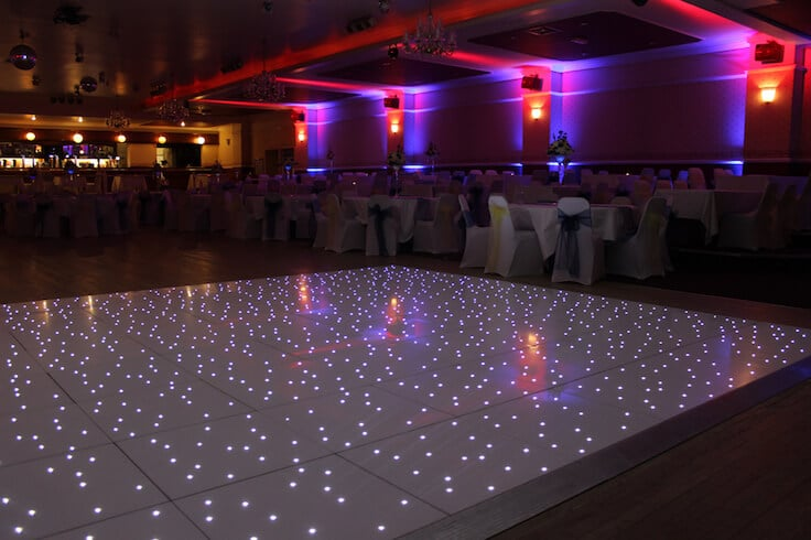 White or Black Starlit Dance Floor