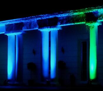 little hermitage higham uplighting house pillars