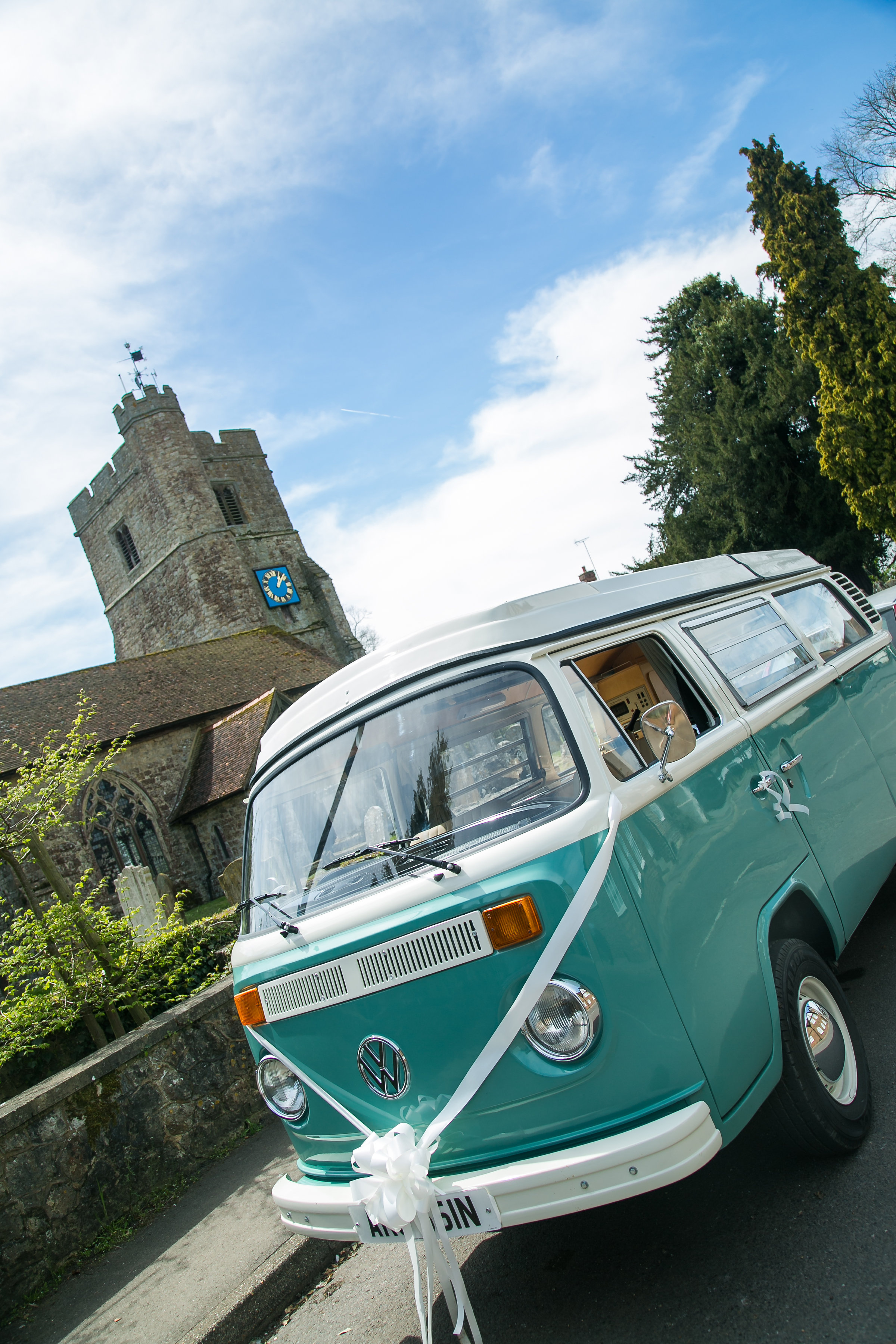 VW Camper Van Lenham Church