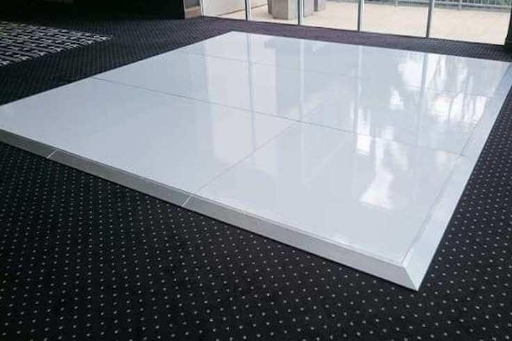 Plain White Dance Floor