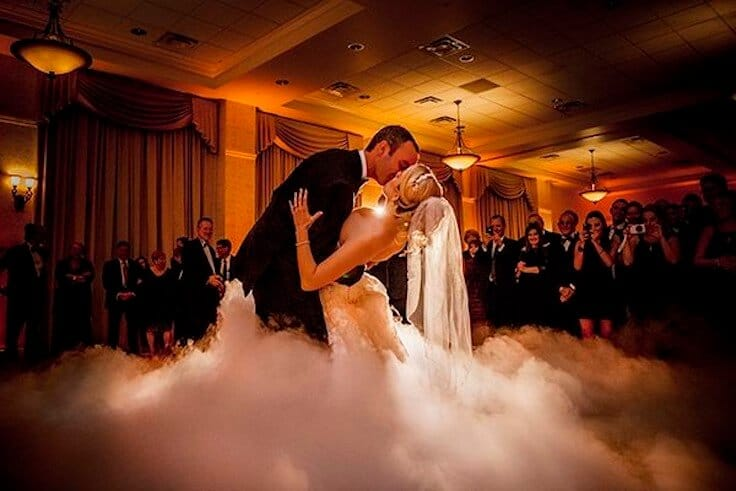 First Dance Smoke ? Dry Ice explained …the perfect Wedding Photo