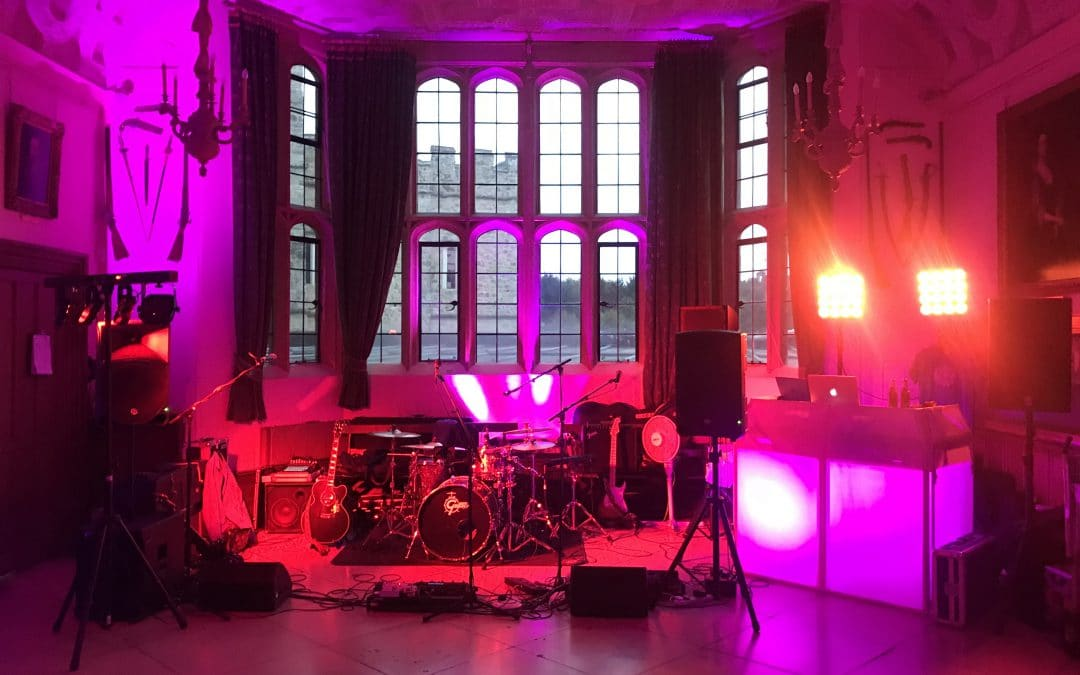 Leeds Castle DJ, Uplighting and Band in Heraldry Suite